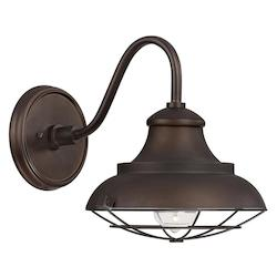 Burnished Bronze Outdoor Collection 1 Light Barn Light Sconce