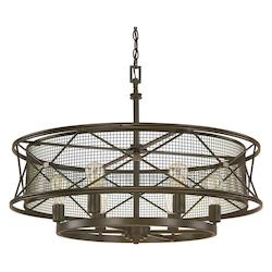 Oil Rubbed Bronze 6 Light 32in. Wide Pendant from the Jackson Collection