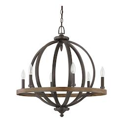 Iron And Oak Brayden 6 Light 26in. Wide Chandelier