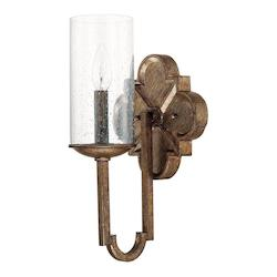Rustic Avanti 1 Light Bathroom Sconce