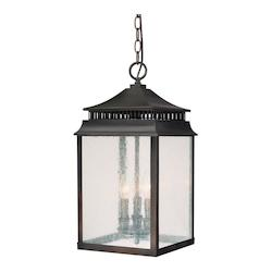 Old Bronze Sutter Creek 3 Light Outdoor Full Sized Lantern Pendant