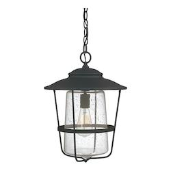 Black 1 Light 13In. Wide Outdoor Pendant From The Creekside Collection