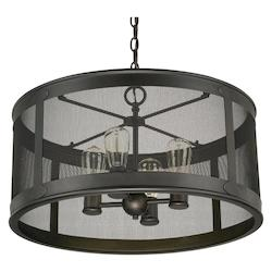 Old Bronze The Dylan Collection 4 Light Outdoor Full Sized Pendant