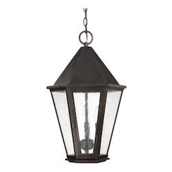 Old Bronze The Spencer Collection 3 Light Outdoor Full Sized Lantern Pendant