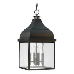 Old Bronze The Westridge Collection 4 Light Outdoor Full Sized Lantern Pendant