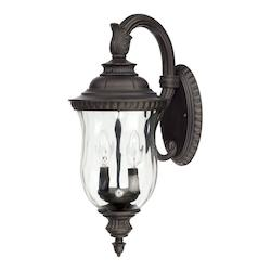 2 Lamp Outdoor Wall Lantern Top Arm Mount