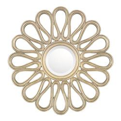 Brushed Gold 29in. x 29in. Round Mirror from the Mirrors Collection