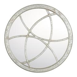 Silver Quartz 36In. X 36In. Round Mirror From The Mirrors Collection