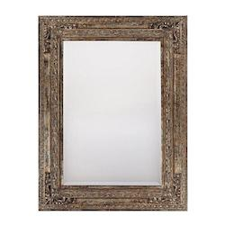 Mirror-Beveled-Old-World Finish,Gold W/Silver