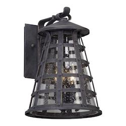 3Lt Wall Lantern Medium