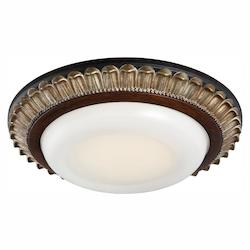 Led Recessed Light In Belcaro Walnut Finish W/Frosted White Glass