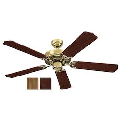 Quality Max & Energy Star 52 Inch Ceiling Fan in Polished Brass Finish