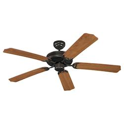 Quality Max & Energy Star 52 Inch Ceiling Fan in Heirloom Bronze Finish