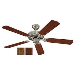 Quality Max & Energy Star 52 Inch Ceiling Fan in Brushed Nickel Finish
