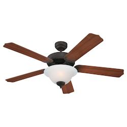 Quality Max Plus & ENERGY STAR 52 Inch Fluorescent Ceiling Fan in Misted Bronze