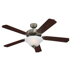 Quality Max Plus & ENERGY STAR 52 Inch Fluorescent Ceiling Fan in Antique Brushe