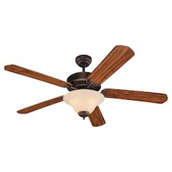 52in. Quality Pro Deluxe Ceiling Fan in Roman Bronze Finish