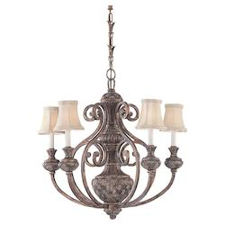 Five-light Highlands Chandelier