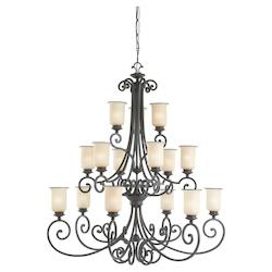Fifteen-Light Acadia Chandelier