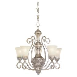 Five-light Highlands Chandelier with Glass