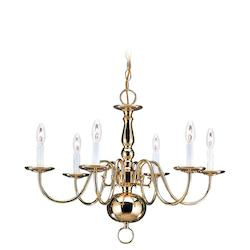 Six-Light Traditional Chandelier