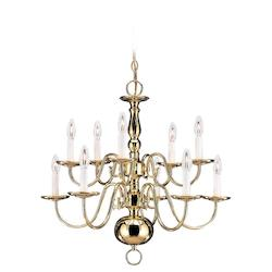 Ten-Light Traditional Chandelier