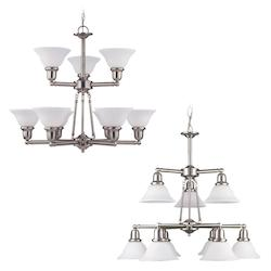 Nine-Light Sussex Fluorescent Chandelier