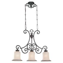 Three-Light Acadia Billiard Chandelier