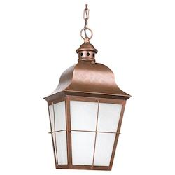 Fluorescent Outdoor One Light Pendant