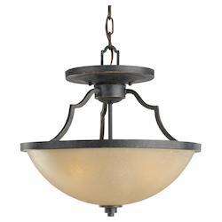 Three Light Convertible Pendant/Semi-Flush Light