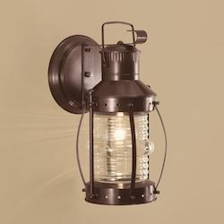 One Light Brass Wall Light Lantern
