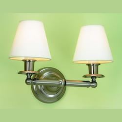 Two Light BrassWall Light
