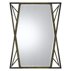 Dark Bronze Pavia Metal Beveled Mirror