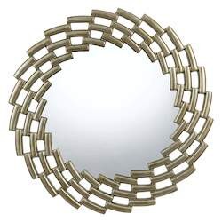 Metalware Baldwin Circle Beveled Mirror