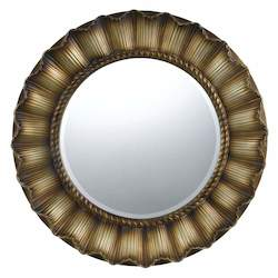 Goldish Oberlin Circle Beveled Mirror