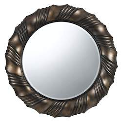 Dark Bronze Starke Circle Beveled Mirror