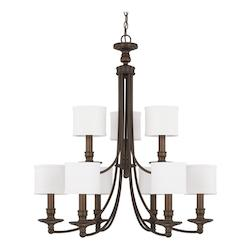 Burnished Bronze 9 Light 31in. Wide Chandelier from the Midtown Collection