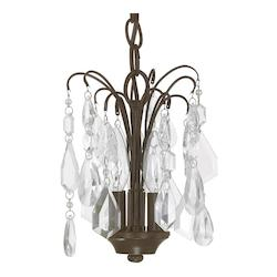 Russet 3 Light 8in. Wide Chandelier form the Axis Collection