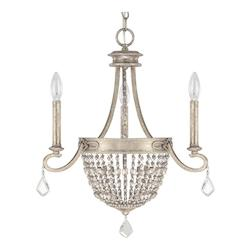 Silver Quartz The Duchess Collection 3 Light 1 Tier Candle Style Chandelier