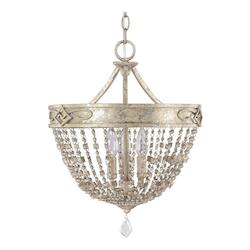 Silver Quartz The Duchess Collection 3 Light Full Sized Urn Pendant