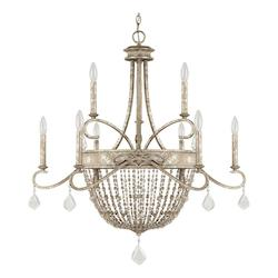 Silver Quartz The Duchess Collection 9 Light 2 Tier Candle Style Chandelier