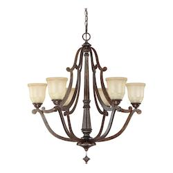Rustic Corday 6 Light 1 Tier Chandelier