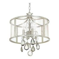 Antique Silver 4 Light 15in. Wide Pendant from the Blakely Collection