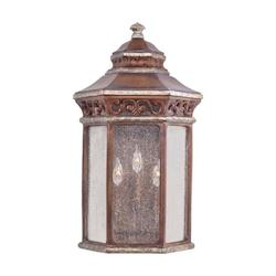 Three Light Bronze Wall Lantern