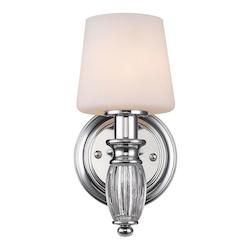 Chrome Vanna 1 Light Bathroom Sconce - 5.25in. Wide