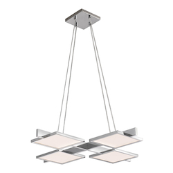 4-Light Square Led Pendant