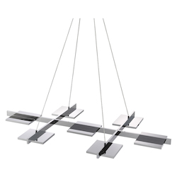 7-Light Rectangle Led Pendant