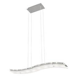 10X20W Multi Light Pendant W/ Matte Nickel Finish & Frosted Glass
