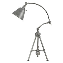 60W Merton Metal Adjustable Tripod Desk/Table Lamp With Metal Shade