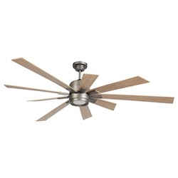 72In. Ceiling Fan With Blades And Light Kit